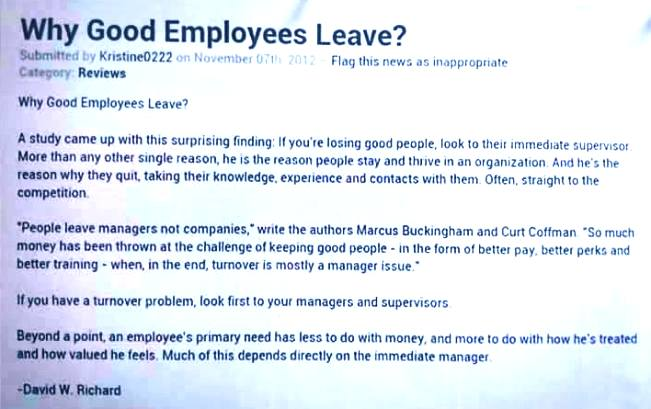 Your boss may force you to leave